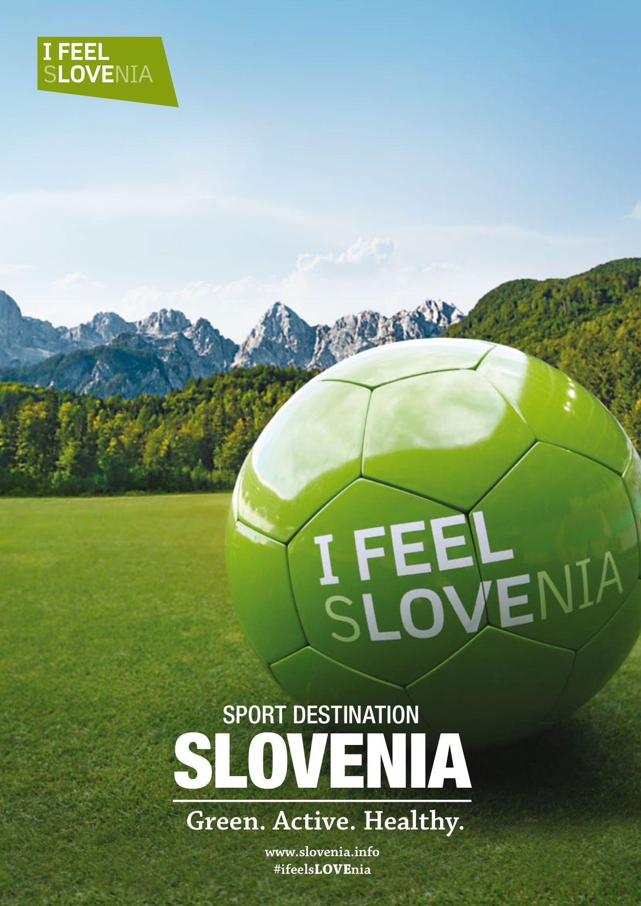 front cover of the Slovenia Sport Destination catalogue