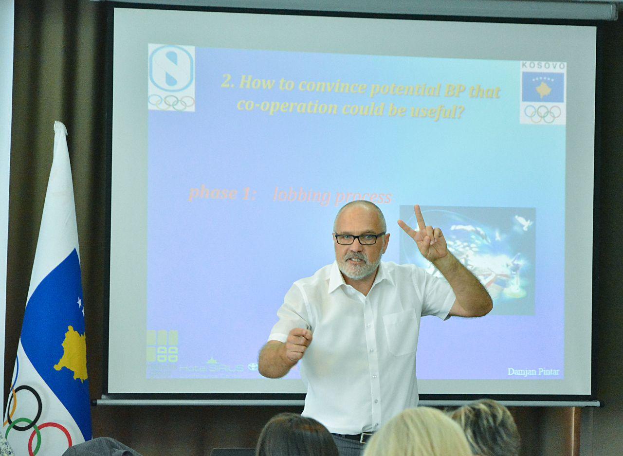 A man giving a powerful presentation