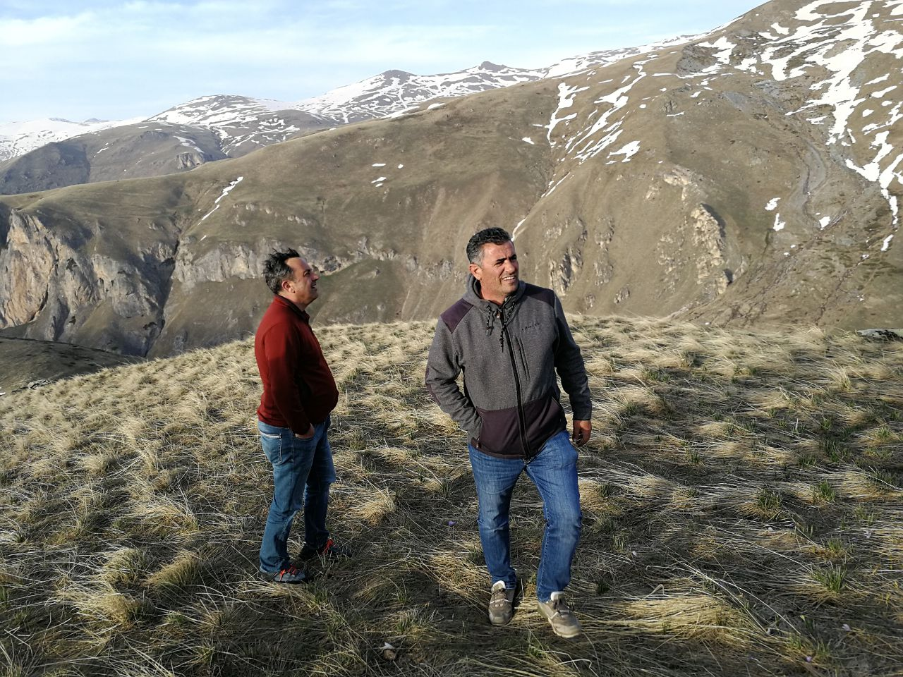 two men in the mountains